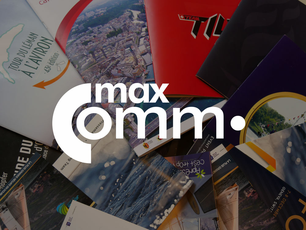 MaxComm communication graphisme web design
