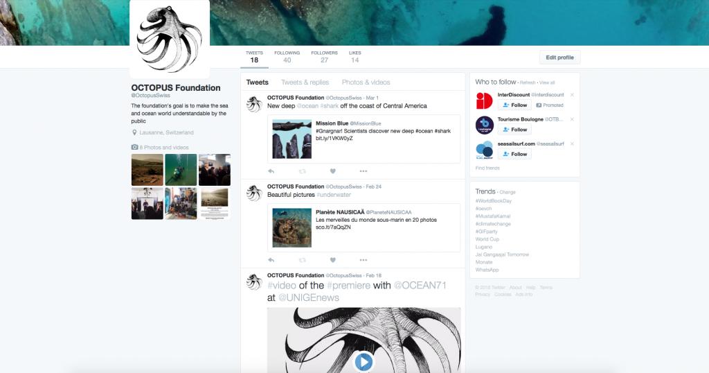 Fondation Octopus Twitter