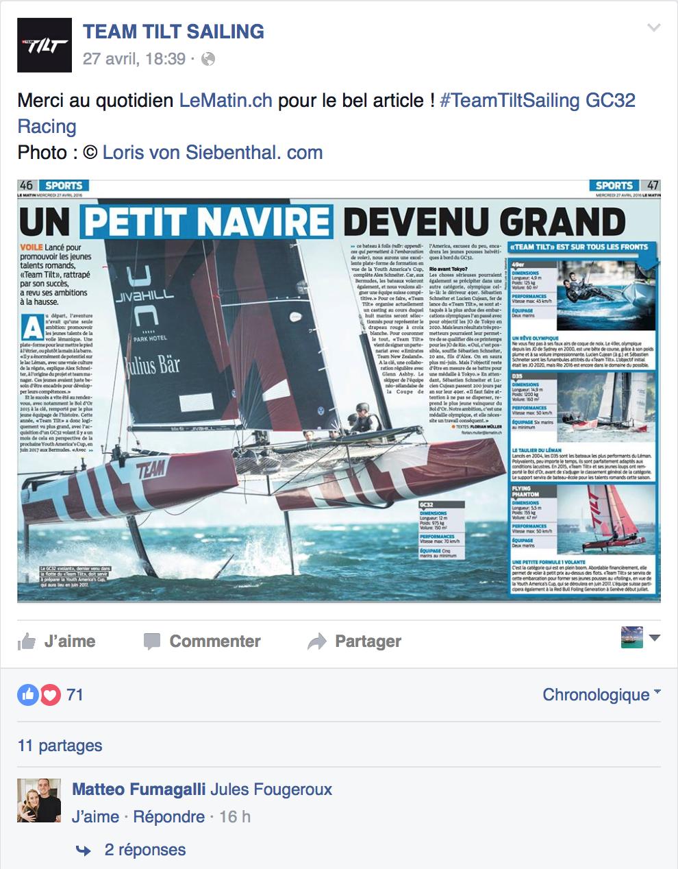 Post Facebook Team Tilt