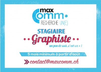 Stage MaxComm agence de communication