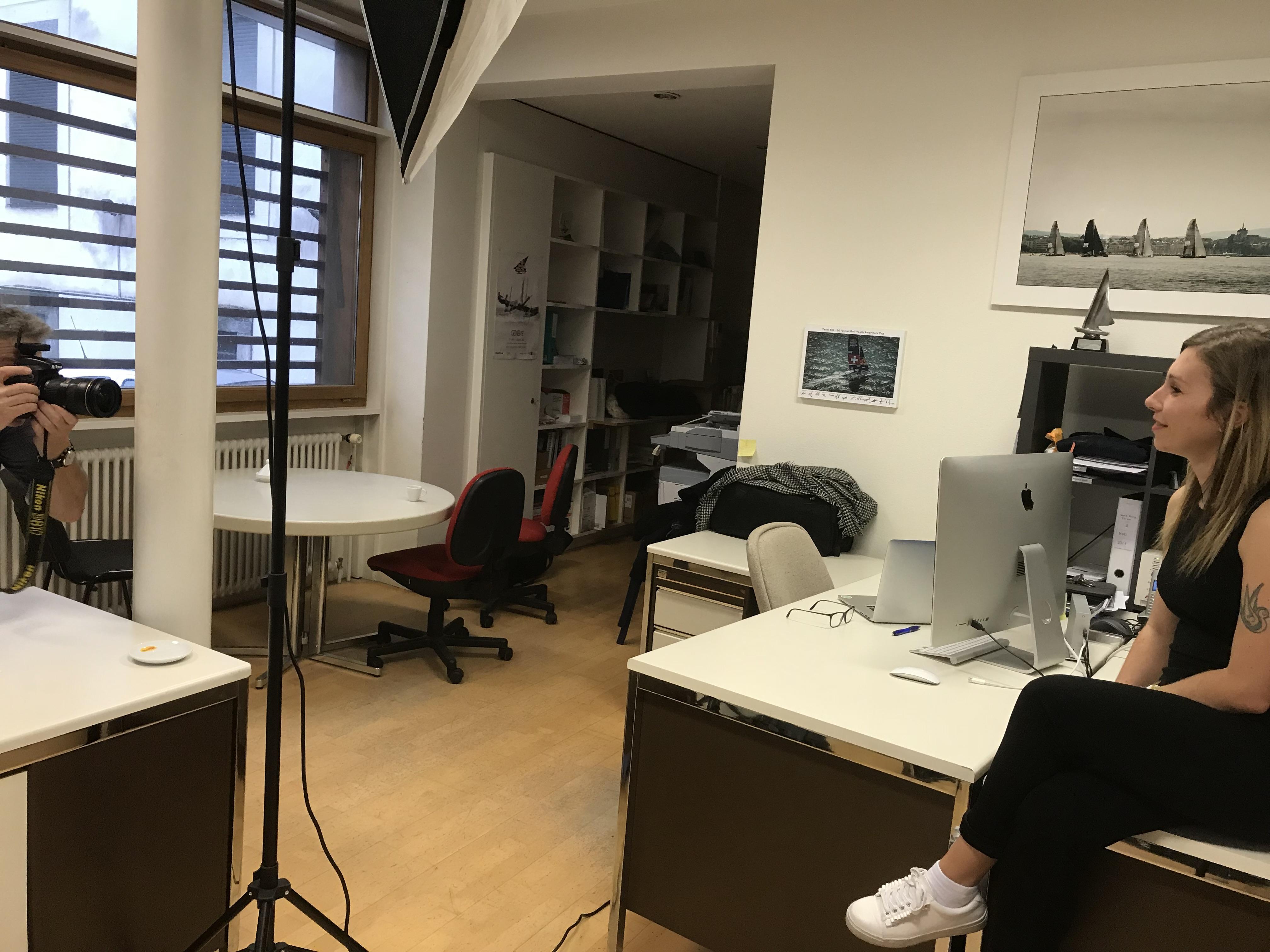 Shooting photo à l'Agence MaxComm
